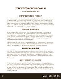 michael kors strategic marketing plan