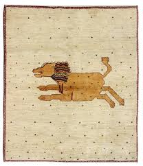 pictorial and folklife rugs gallery lion gabbeh rug hand knotted