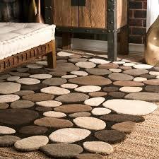 Mini Pebble Wool Jute Rug Nuloom Hand Carved Stones And Pebbles Wool Rug 3 U00276 X 5 U00276 Free