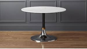 hackney white marble dining table cb2