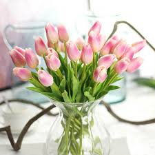 Flowers For Home Decor Online Get Cheap Tulip White Aliexpress Com Alibaba Group