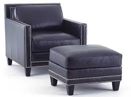 Blue Leather Chair Hendrix Navy Blue Leather Sofa By Steve Silver