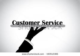 professional hand silhouette presenting service text stock vector