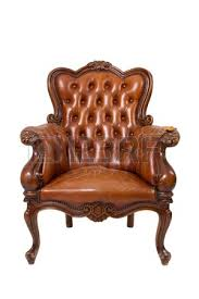 Vintage Brown Leather Armchair Luxury Black Leather Sofa On White Background Stock Photo Picture