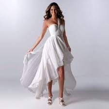 white high low dresses cheap