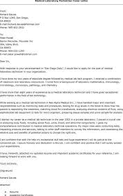 awesome collection of sample cover letter medical laboratory