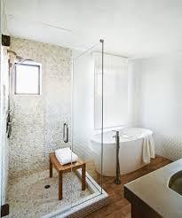 phoenix pebble stone shower bathroom contemporary with tile doors
