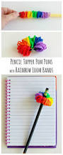 rainbow loom thanksgiving charms rainbow loom band pencil toppers make and takes