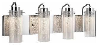 Led Vanity Light Fixtures Elan Krysalis Large Led Vanity Light Contemporary Bathroom