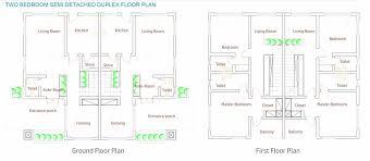nab floor plan two bedroom semi detached duplex jam nab estate