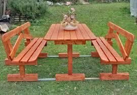 panchine legno tavoli per l esterno in legno tavolo in legno con panchine mod