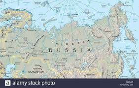 Barents Sea Map Map Of Siberia Stock Photo Royalty Free Image 135020739 Alamy
