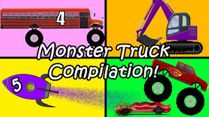 youtube monster truck videos animated monster truck compliation for kids surprise eggs kids
