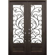 frosted glass front doors allure iron doors u0026 windows 72 in x132 in marco island transom