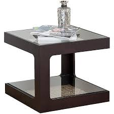 wood cube end table abson living fiona solid wood glass cube end table espresso espresso