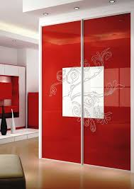 Contemporary Closet Doors For Bedrooms Fine Designed Sliding Closet Doors For Bedrooms Contemporary Red