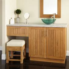 Pine Bathroom Vanity Cabinets Bathroom Vanity With Sink And Makeup Area 425086 60 Bathroom
