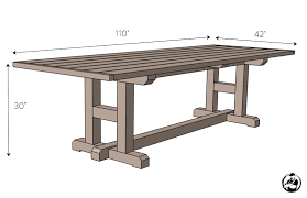 Plans For Picnic Tables by H Leg Dining Table Rogue Engineer