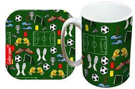 selina jayne football limited edition designer mug and coaster