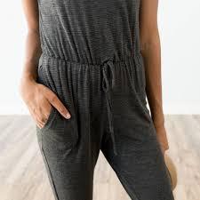khloe jumpsuit khloe jumpsuit in charcoal jena land shop stevie store