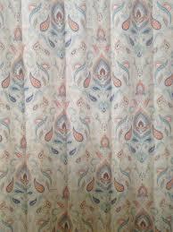 Paisley Shower Curtains Curtains Amazon Com Cynthia Rowley Ischia Paisley Fabric Shower