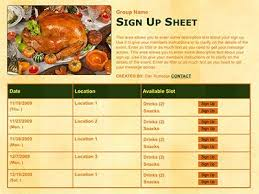 thanksgiving potluck ideas classroom volunteer sign up