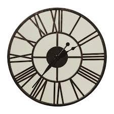 Horloge Murale Ronde Blanche Avec Enchanteur Grande Horloge Murale Blanche Avec Murale Ronde Miroir