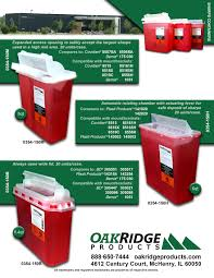 wall mounted sharps containers 5 4 qt b style sharps containers oak ridge products