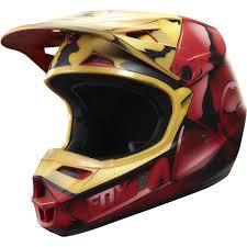 junior motocross gear fox racing 2016 limited edition youth v1 iron man helmet red