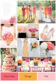 wedding theme ideas pink and orange wedding color theme ideas 001 weddings by lilly