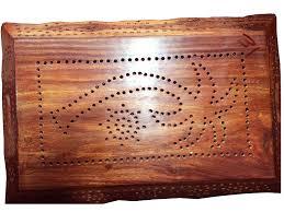 wooden serving tray indian rosewood sheesham handmade present wood handmade 15 x 9 5 inch tray
