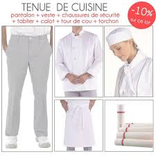 tenu professionnelle cuisine lot de cuisine blanc complet veste tablier pantalon