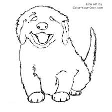 free coloring pages golden retriever