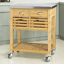 servierwagen küche sobuy servierwagen küchenwagen rollwagen mit edelstahlplatte