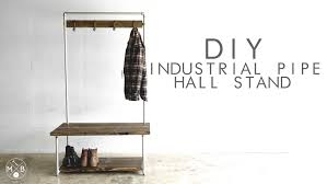 diy industrial pipe hall stand modern builds ep 37 youtube
