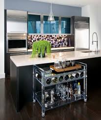 bar cart ideas kitchen contemporary with kitchen island