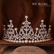 wedding crowns angelababy luxury pearls wedding crowns bridal tiaras