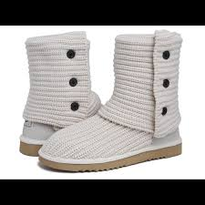 s ugg cardy boots 53 ugg shoes euc ugg cardy knit boot white