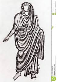 ancient roman emperor in a toga stock images image 31888494
