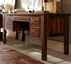 Reclaimed Wood Desk Furniture Bowry Reclaimed Wood Desk Pottery Barn