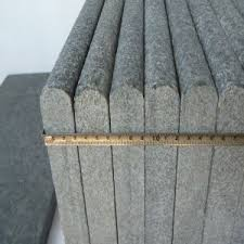 china nose flamed black granite border tile for outdoor