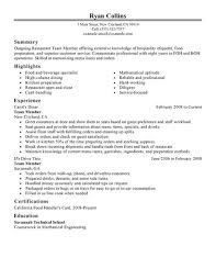 exles of resumes for restaurant essays writers best custom essay writers netbankaudit resume