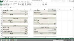 Create A Budget Worksheet Zero Based Budget Spreadsheet Youtube