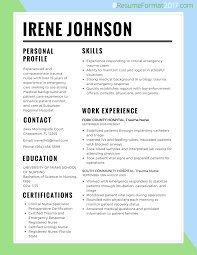 Resume Sample Format For Experienced by Resume Best Format For Nurses 2017 Resume Format 2017