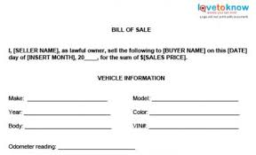 Auto Dealer Bill Of Sale Template by Bill Of Sale Templates
