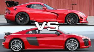 2016 dodge viper 2016 dodge viper acr vs 2016 audi r8 v10 plus