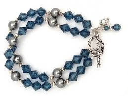 crystal pearl bracelet images Montana swarovski crystal and grey swarovski crystal pearl jpg