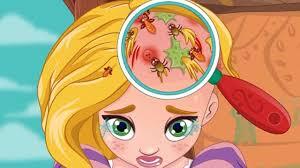 ღ disney tangled princess rapunzel hair doctor cute baby games