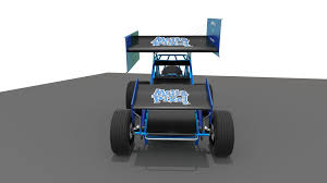 pixel race car 3d model of a sprint car by media pixel cgtrader