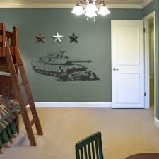 Military Home Decorations by Sudden Shadows 21 5 In X 48 5 In Tank Sudden Shadow Wall Decal